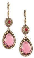 Alexander McQueen Crystal Double-Drop Earrings