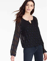 Lucky Brand Embroidered Banded Blouse