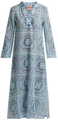 Le Sirenuse Le Sirenuse, Positano - Giada Aretusa-print Cotton Kaftan - Womens - Light Blue