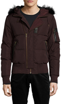 The Kooples Quilted Woven Puffer Jacket