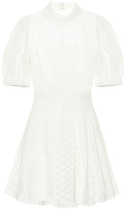 Self-Portrait Broderie-anglaise minidress
