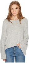 Kensie Plush Touch Top with Bell Sleeves KS0K3611 Women's Clothing