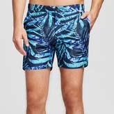 IBIZA Ocean Club Men's Swim Trunks Palm Print Blue - IBIZA