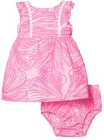 Lilly Pulitzer Annabelle Dress (Infant) (Prosecco Pink Fronds Place) Girl's Clothing