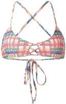 Mara Hoffman basket weave print bikini top - women - Nylon/Spandex/Elastane/Polycarbonite - S