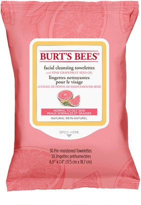 Burt's Bees Facial Cleansing Towelettes Pink Grapefruit X 30