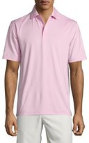 Peter Millar Solid Jersey Short-Sleeve Polo Shirt, Pink