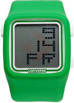 Converse Watch, Unisex Digital Scoreboard Green Silicone Strap 43mm VR002-325