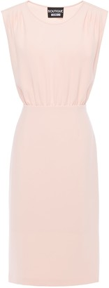 Boutique Moschino Pleated Gathered Cady Dress