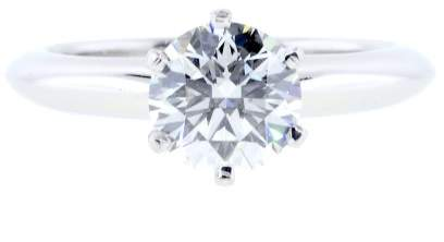 Tiffany & Co. Platinum 1.21 Ct Round Brilliant Diamond Engagement Ring Size 6