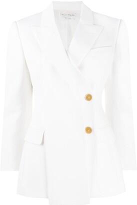 Alexander McQueen Drape Panel Blazer Jacket