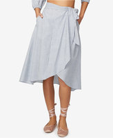 Rachel Roy Cotton Pinstripe Wrap Skirt, Created for Macy's