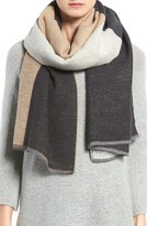 Eileen Fisher Colorblock Cotton Blend Scarf
