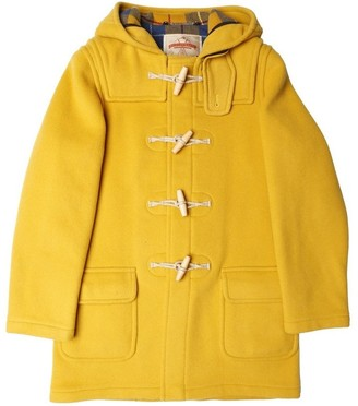 Burrows & Hare - Yellow Water Repellent Wool Duffle Coat - L - Yellow
