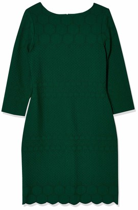 Julia Jordan Women's 3/4 Sleeve Bateau Neck Body Con Shift Dress