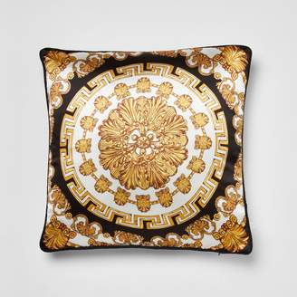 River Island Gold medallion printed cushion cover