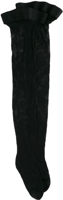 Wolford Marie floral stay-up stockings