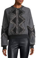 Andrew Gn Fringed Wool Pullover Sweater