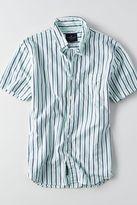 American Eagle Outfitters AE Short Sleeve Stripe Poplin Shirt