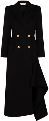 Alexander McQueen Double-Breasted Asymmetric Coat