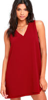 BB Dakota Palma Wine Red Shift Dress