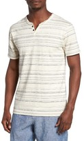 Lucky Brand Men's Stripe Notch Neck T-Shirt