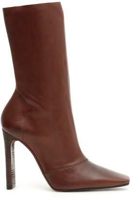 Yeezy Stacked Heel Side Zip Boots