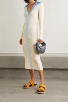 Thumbnail for your product : REMAIN Birger Christensen Joy Ribbed-knit Midi Dress - Cream