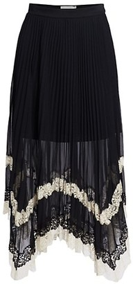 Jonathan Simkhai Lace Pleated Handkerchief Skirt