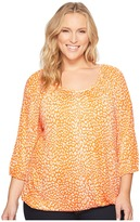 MICHAEL Michael Kors Plus Size Cheetah Peasant Top Women's Clothing