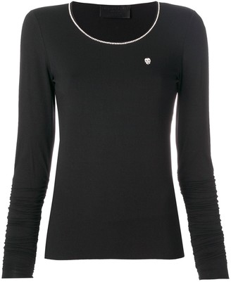Philipp Plein long sleeve T-shirt with metallic detailed neck