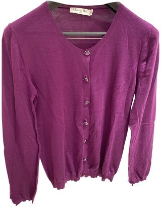 Christian Dior Purple Cashmere Knitwear