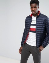 Tommy Hilfiger Packable Down Bomber Puffer Jacket in Navy