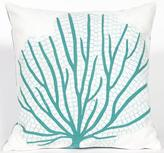 "Coral Fan 20"" Square Outdoor Pillow"