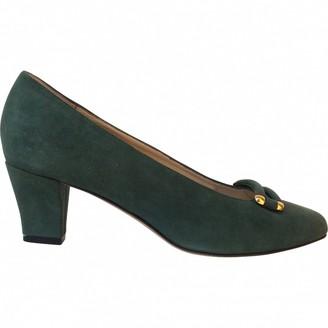 Bally Green Suede Heels