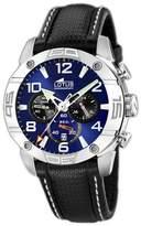 Lotus Men's Crono L15644/2 Black Leather Quartz Watch with Dial