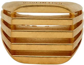 Balenciaga Gold Bone Ring