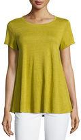 Eileen Fisher Short-Sleeve Organic Linen Jersey Tee