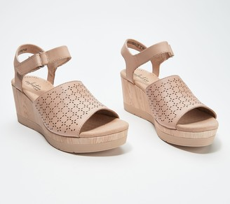 Clarks Collection Perforated Leather Wedges - Cammy Glory