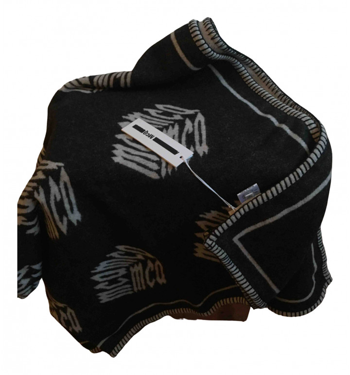 McQ Black Wool Scarves