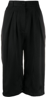 Rochas Pleated Knee-Length Shorts