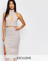 Club L Keyhole Rib Crop Top