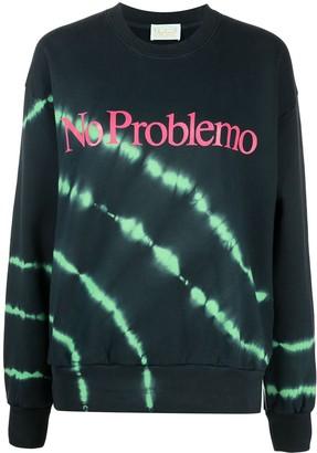 Aries Tie Dye-Print Cotton Sweatshirt