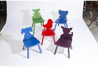"The Children's Furniture Co. Animal Bird Kids Chair Size: 23"" H x 14.5"" W x 14"" D, Color: Natural"
