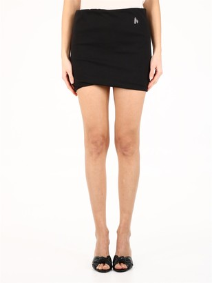 ATTICO Logo Detailed Mini Skirt