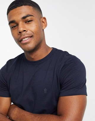 French Connection organic cotton boxy fit t-shirt in navy