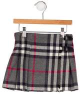 Burberry Girls' Nova Check Virgin Wool Skirt