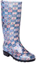 Blue Tile Rain Boot - Women