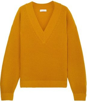 Tory Burch Ribbed Wool And Cashmere Blend Sweater