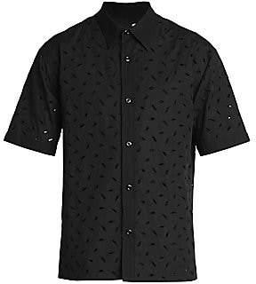 Ami Paris Men's Short-Sleeve Embroidered Shirt
